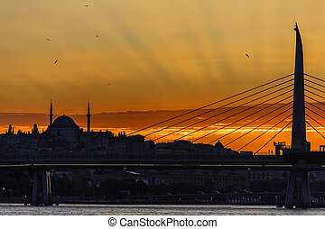 Istanbul on sunset