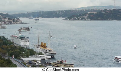 Istanbul over the Bosphorus brigde.