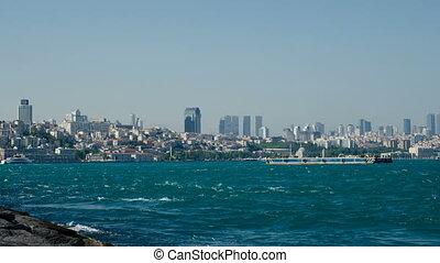 Sea traffic in Bosphorus strait