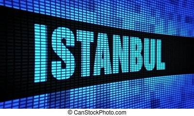 ISTANBUL side Text Scrolling LED Wall Pannel Display Sign...