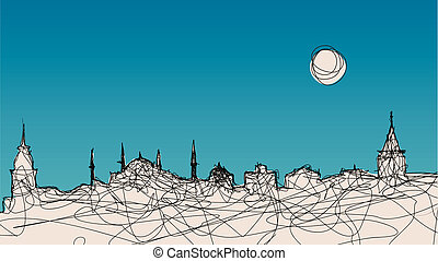 Istanbul Silhouette - An illustration of Istanbul silhouette...
