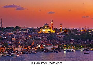 istanbul, solnedgång