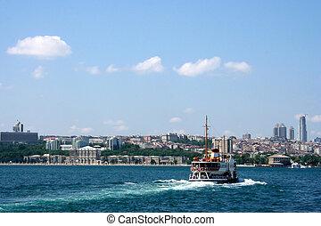 istanbul - ferryboat crossing the Bosphorus