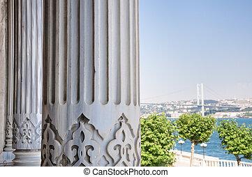 Istanbul - The Bosphorus Bridge fron the Ciragan Palace