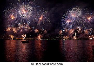 Istanbul Strait Fireworks Show