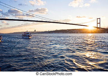 Istanbul - The Bosphorus Bridge connects Europe and Asia