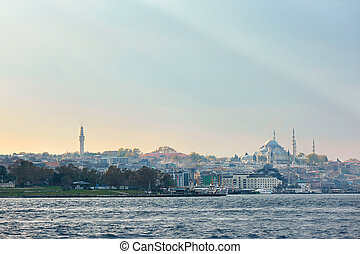 Istanbul the capital of Turkey. - panoramic view of the...