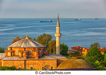 Istanbul, the mosque in the foreground, in the background...