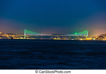 Istanbul, the turkish city between Asia and Europe divided by bo