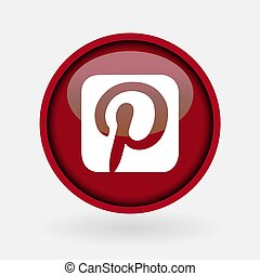 Istanbul, Turkey - March 2, 2019: Collection of popular social media logo printed on white paper: Pinterest.