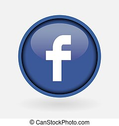 Istanbul, Turkey - March 2, 2019: Collection of popular social media logo printed on white paper: Facebook.