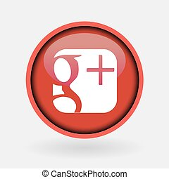 Istanbul, Turkey - March 2, 2019: Collection of popular social media logo printed on white paper: Google Plus.