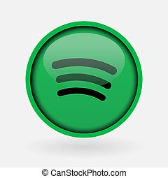 Istanbul, Turkey - March 2, 2019: Popular social media music logo printed on white paper: Spotify.