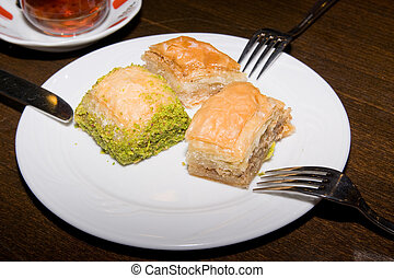 Istanbul, Turkey, traditional dessert baklava, well known in middle east
