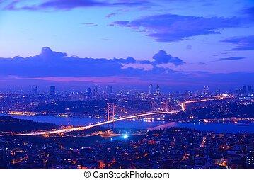 istanbul, turkiet, bosporus, bro