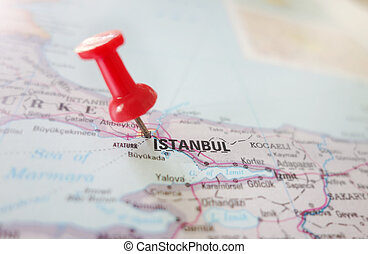 Karta Europa Turkiet.Karta Istanbul Karta Begrepp Stift Istanbul Resa Upp Slut