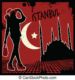 Istanbul vintage poster