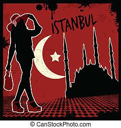 Istanbul vintage poster