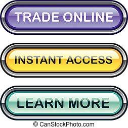 istante, accesso, imparare, trafficare, linea