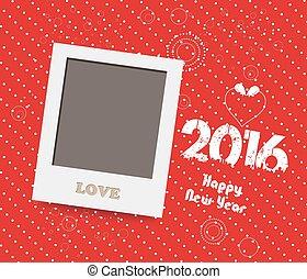 istante, anno, 2016., vuoto, nuovo, felice