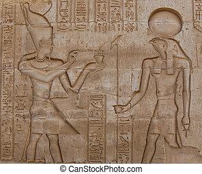 istenek, bevésett, egyiptomi