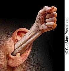 istota, moc, słuchany