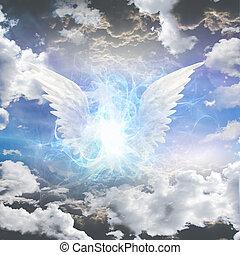 istota, zaciemniony, anielski