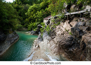 istra, kotli, fiume, costruzione, mulino, croazia, mirna, vecchio, acqua