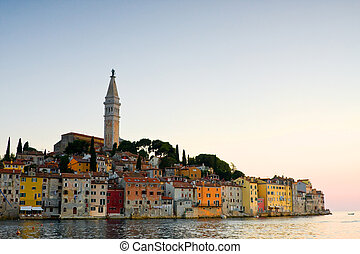 istria, touristic, rovinj, atração, arquitetura, croatia.