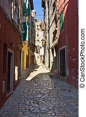 istria, touristic, rovinj, atracción, arquitectura, croatia.