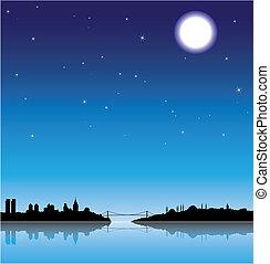 isztambul, éjszaka