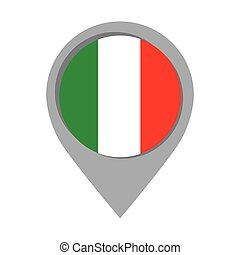 itália, alfinete, língua, marca, bandeira, ponteiro, ícone