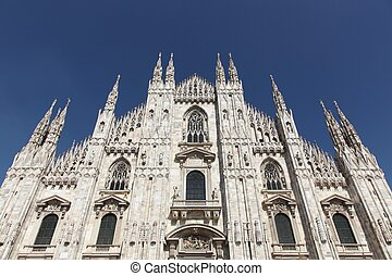 itálie, katedrála, milán