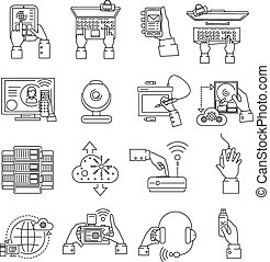 It Devices Icons Line