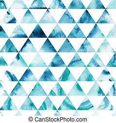 it., dreieck, hintergrund., bunte, muster, oberseite, shapes...