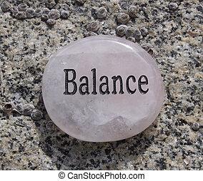 it., geschreven, evenwicht, rots