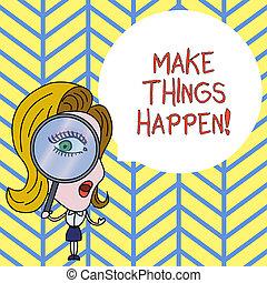 it., happen., 写真, 提示, 懸命に, 印, 意志, テキスト, 持ちなさい, もの, 概念, 努力, 順序, あなた, 目的を達しなさい, 作りなさい