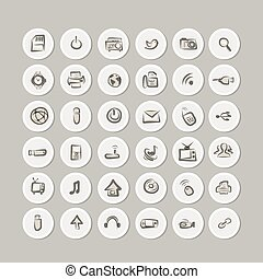 IT icons collection for your design
