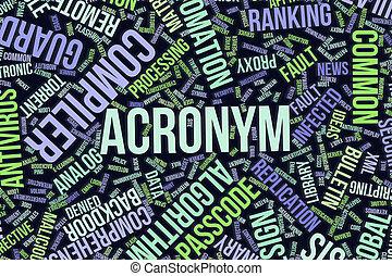it., information, mot, acronyme, business, conceptuel, technologie, ou, nuage