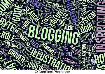it., information, mot, business, conceptuel, blogging, technologie, ou, nuage