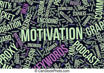 it., information, mot, business, conceptuel, technologie, ou, nuage, motivation