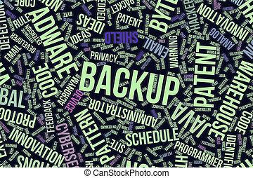 it., information, mot, sauvegarde, business, conceptuel, technologie, ou, nuage