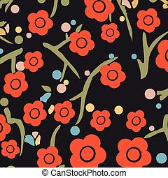 It is a background image of colorful floral pattern.