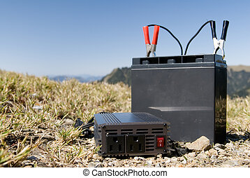 battery in the outdoors - It is a battery in the outdoors.