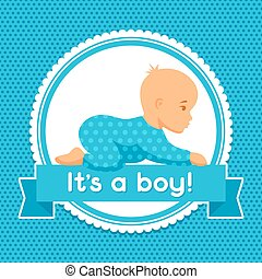 It is a boy. Baby shower invitation