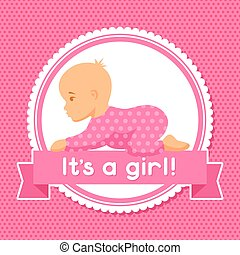 It is a girl. Baby shower invitation