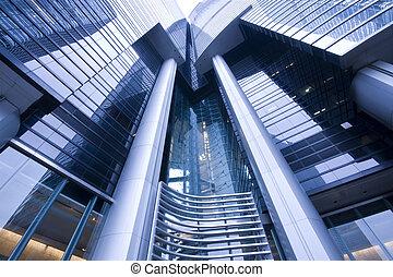 it is a modern building in hong kong