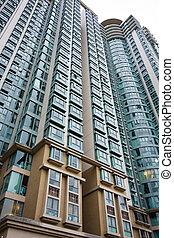 it is a shot of Hong Kong housing apartment block.
