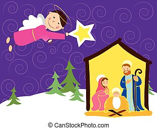 angel in Christmas