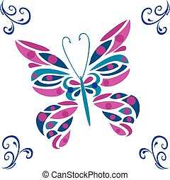 butterfly vector colored